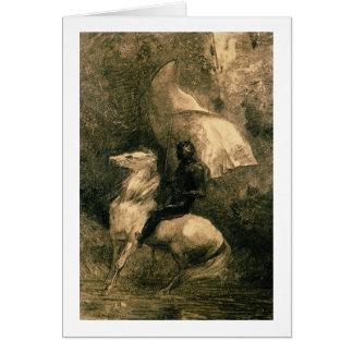 A Knight, c.1885 Card