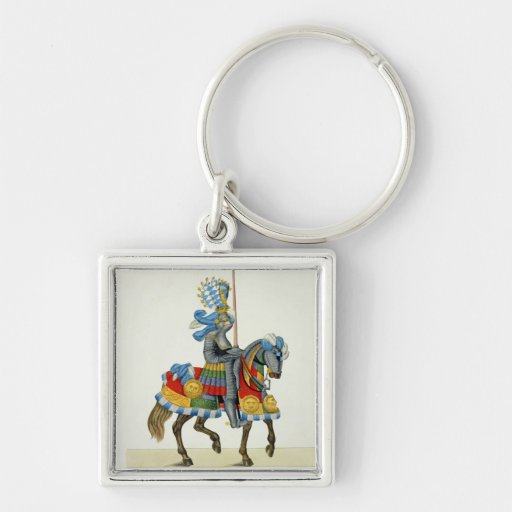 A knight on his way to a tournament, plate from 'A Key Chains