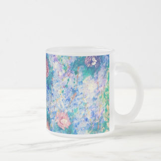 A la Monet Frosted Glass Coffee Mug