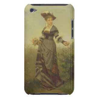 A Lady picking flowers in a landscape (panel) iPod Touch Case-Mate Case