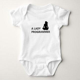 A Lady Programmer Baby Bodysuit