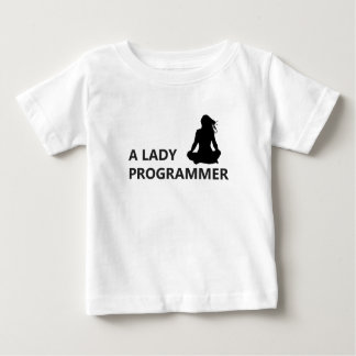 A Lady Programmer Baby T-Shirt