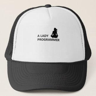 A Lady Programmer Trucker Hat