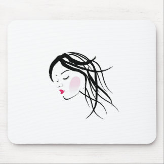 A lady with dreadlocks- dreadlock fashion graphic mouse pad
