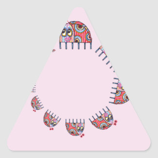 A Ladybird's Family Circle Triangle Sticker