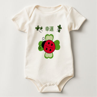 A ladybug on a four-leaf clover Infant Bodysuit