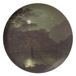 A Lake by Moonlight, c.1780-82 (oil on canvas) Plate