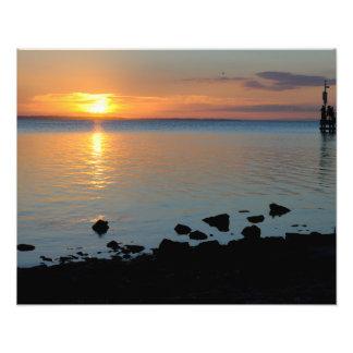 A lake sunset photo