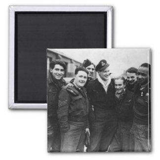 A Lancaster Bomber Crew Square Magnet