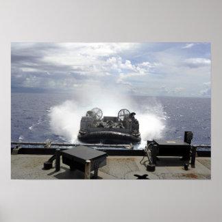 A landing craft air cushion poster