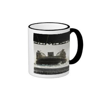A landing craft air cushion prepares to enter coffee mug