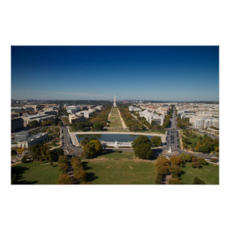 A landscape view of Washington DC Poster