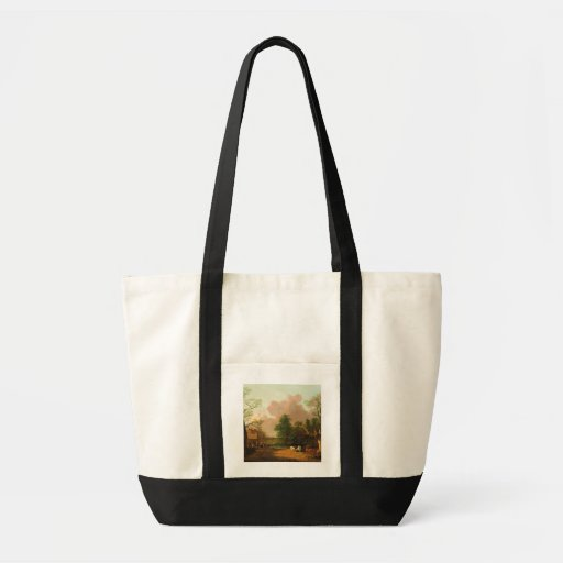 A Landscape with Figures, Farm Buildings and a Mil Canvas Bags