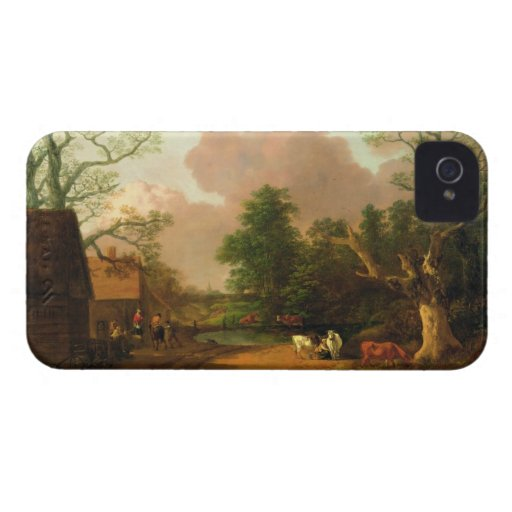A Landscape with Figures, Farm Buildings and a Mil iPhone 4 Case