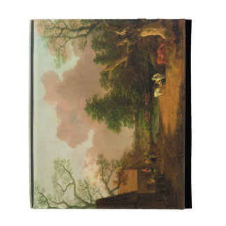 A Landscape with Figures, Farm Buildings and a Mil iPad Folio Case