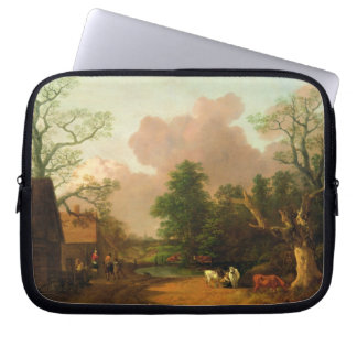 A Landscape with Figures, Farm Buildings and a Mil Laptop Computer Sleeves
