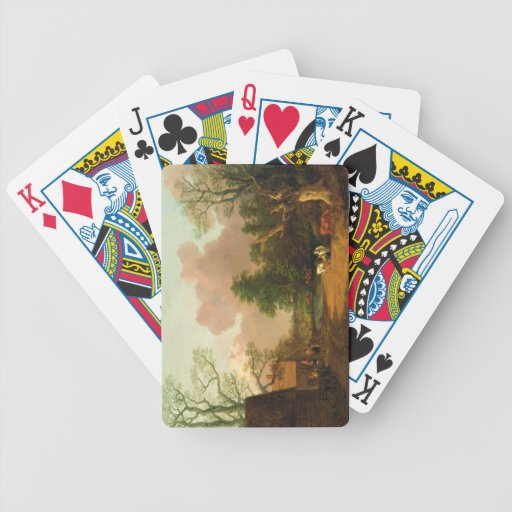 A Landscape with Figures, Farm Buildings and a Mil Bicycle Card Deck
