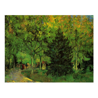 A Lane in the Public Garden at Arles by van Gogh Postcard