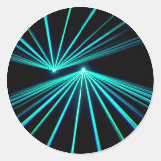 A Laser Show Classic Round Sticker