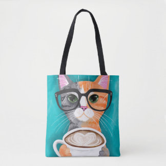 A Latte of Love Calico Cat Tote Bag