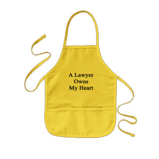 A Lawyer Owns My Heart Kids Apron