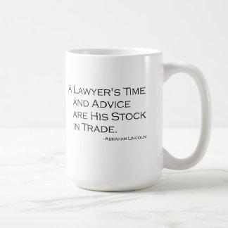 A Lawyer's Time and Advice Mug