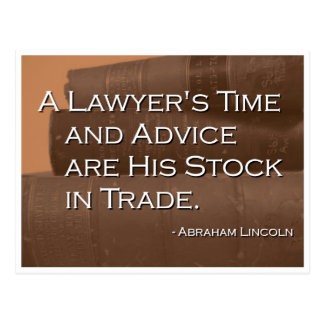 A Lawyer's Time and Advice Postcard