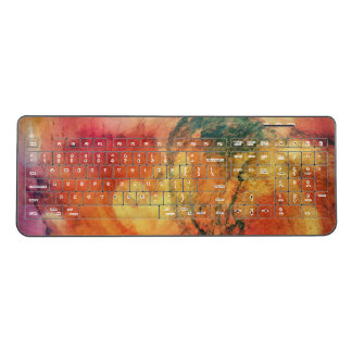 A Leaf In The Wood Autumn Art Abstract Wireless Keyboard