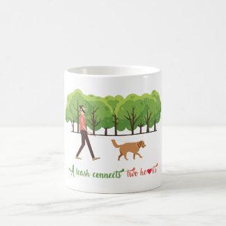 A leash connects two hearts Coffee Mug