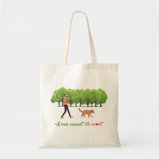 A leash connects two hearts Tote Bag