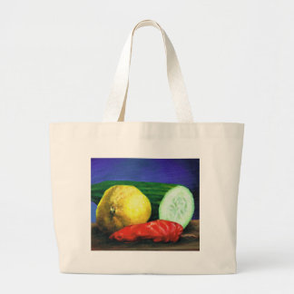 A Lemon and a Cucumber Large Tote Bag
