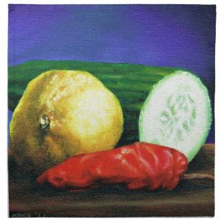 A Lemon and a Cucumber Napkin