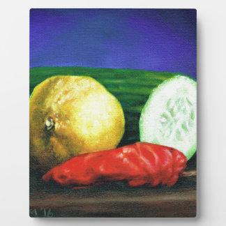 A Lemon and a Cucumber Plaque