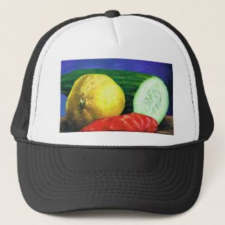 A Lemon and a Cucumber Trucker Hat