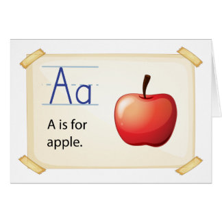 A letter A for apple Card