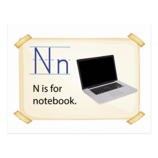 A letter N for notebook Postcard