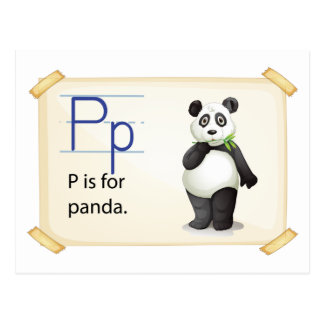 A letter P for panda Postcard