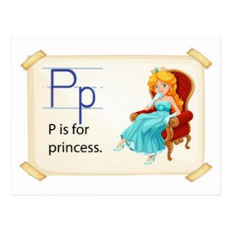 A letter P for princess Postcard