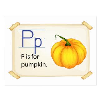 A letter P for pumpkin Postcard