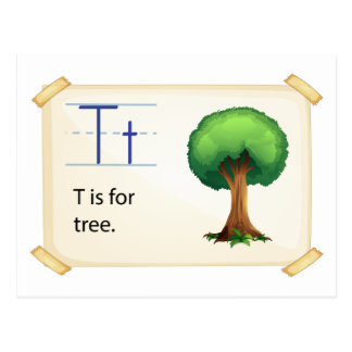 A letter T for tree Postcard