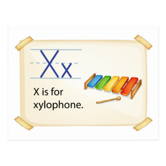 A letter X for xylophone Postcard