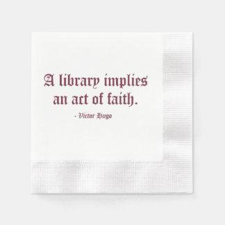 A Library Implies an Act of Faith Disposable Napkin