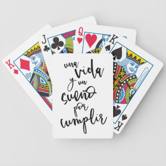 a-life-and-a-sueño-by-to fulfill - positive bicycle playing cards
