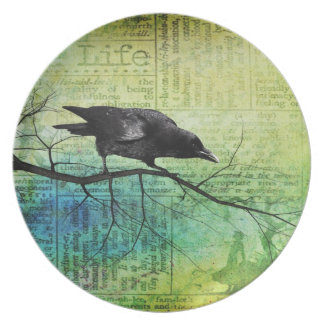 A life of a Raven Dinner Plates