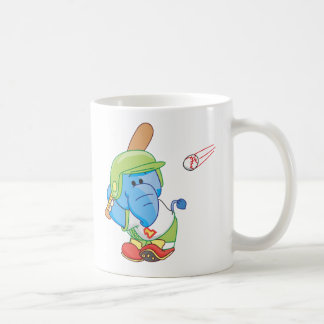 A Lil Blue Elephant Baseball Mugs
