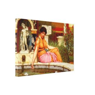 A Lily Pond - John William Godward Canvas Prints