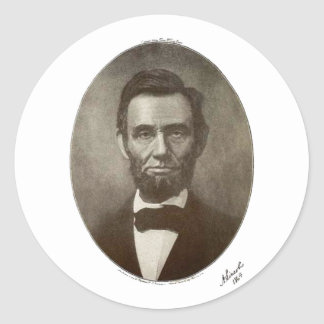 a lincoln 1864 signature oval portrait 2000 sv classic round sticker