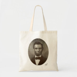 a lincoln 1864 signature oval portrait 2000 sv tote bag