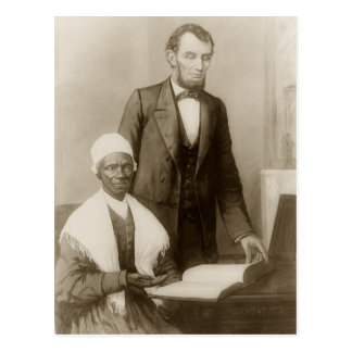 A. Lincoln showing Sojourner Truth the Bible Postcard