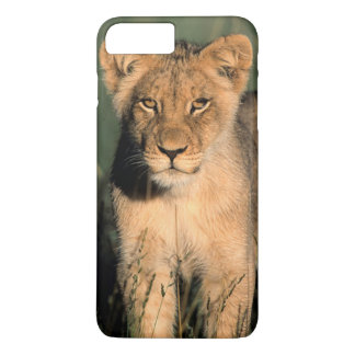 A Lion cub observes the camera from the long grass iPhone 7 Plus Case